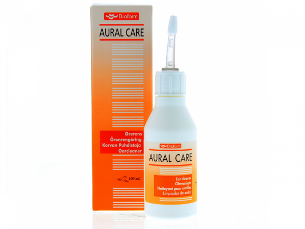Diafarm Aural Care Nettoyant auriculaire Animaux Domestiques et Cheval 100 ml