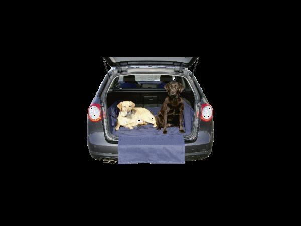 Couverture chien pour voiture avec protection pare-chocs