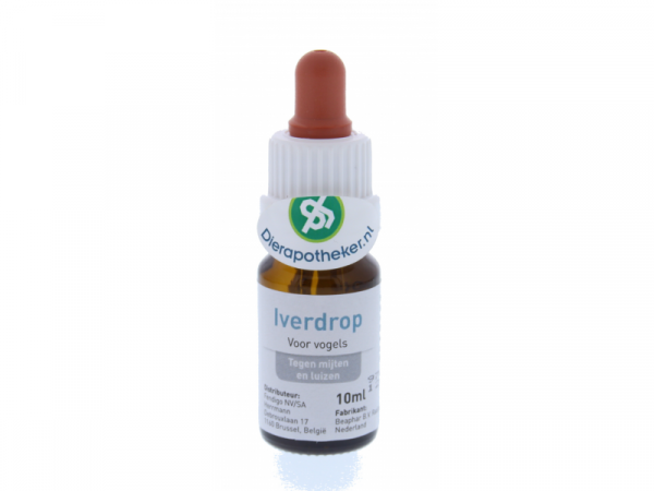 Iverdrop Spot-on Vogel Dierapotheker Druppelflacon 10 ml