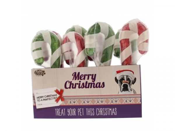 (disponible jusqu'à épuisement du stock) Set Bâton de Noël en peau de buffle Petbrands 8 x 12.5 cm