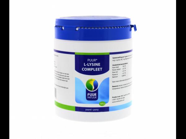 Puur L-Lysine Complet Cheval Poney 500 grammes