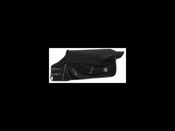 Excellent Couverture d'extérieur Cheval Noir-Gris 175 cm 1 pièce