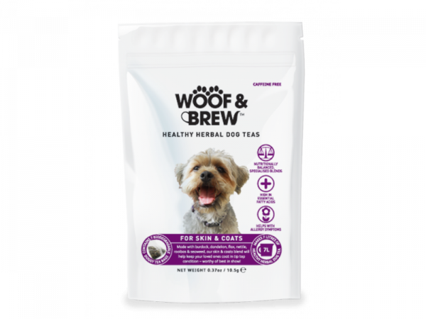 Woof & Brew Hondenthee Skin & Coat 10 x 7 theezakjes