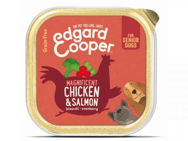 Edgard & Cooper Senior Barquettes Poulet et Saumon 11 x 150 grammes