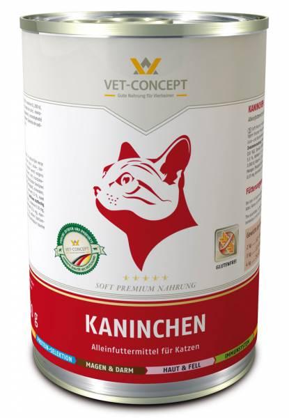 Vet-concept Menu Chat Lapin 6 x 400 grammes