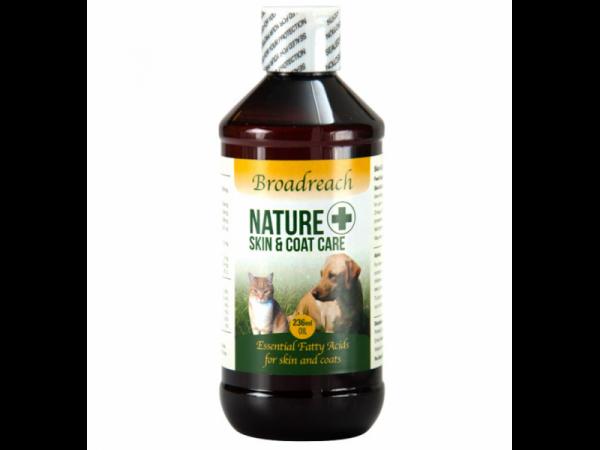 Broadreach Nature+ Skin Coat Allergy Welness Care Peau Chien Chat 236 ml