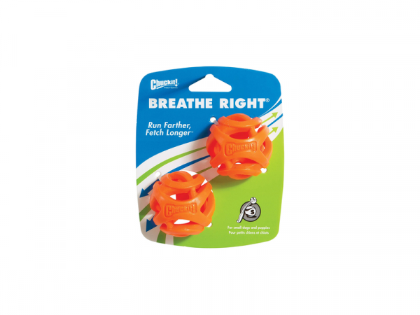 Chuckit Breathe Right Fetch Ball Small 2pack
