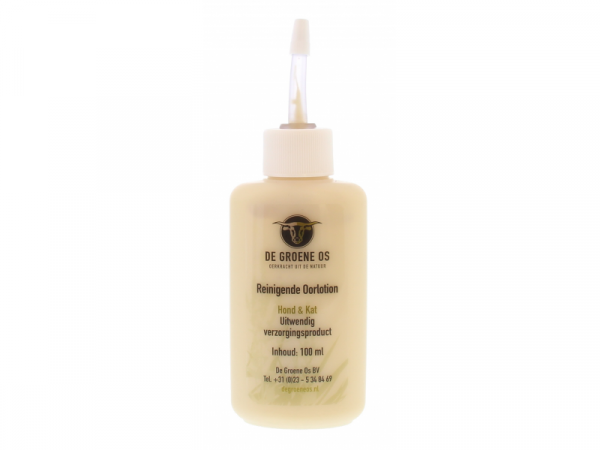 Lotion auriculaire nettoyante Chien Groene Os 100 ml