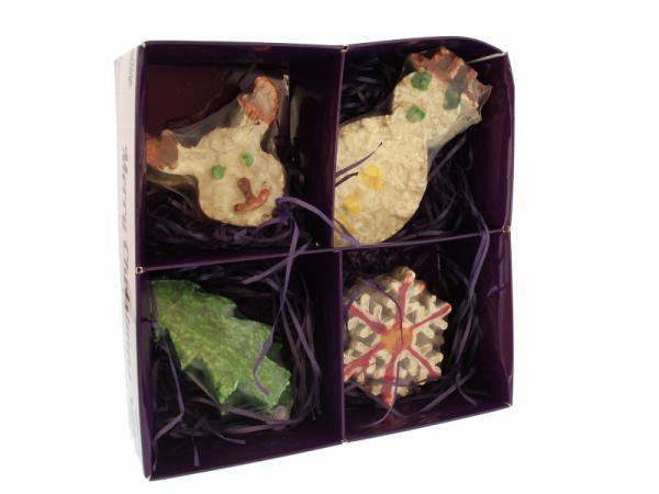 (disponible jusqu'à épuisemett du stock) Set de figurines de Noël Petbrands en peau de buffle