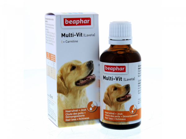 Beaphar Multi-Vit Chien (=Laveta Carnitine) 50 ml