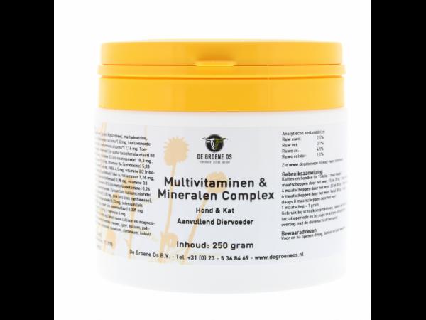 Multivitamines & Minéraux Complex Base Groene Os 250 grammes