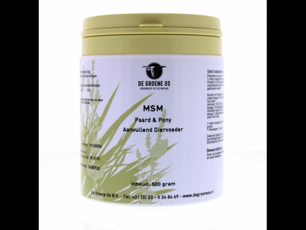 MSM (Vétérinaire) Groene Os 500 grammes