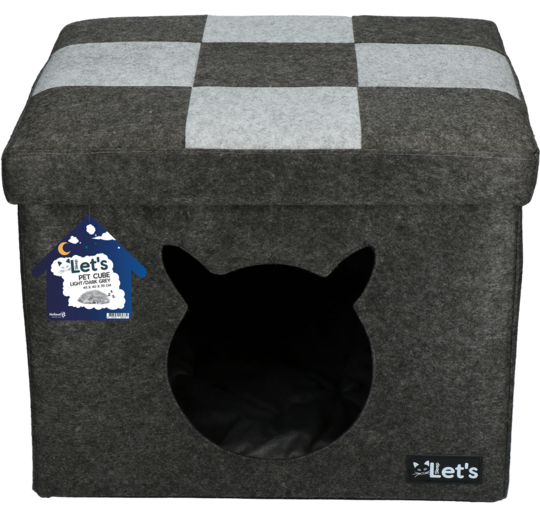Let's Sleep Pet Cube Panier Chat