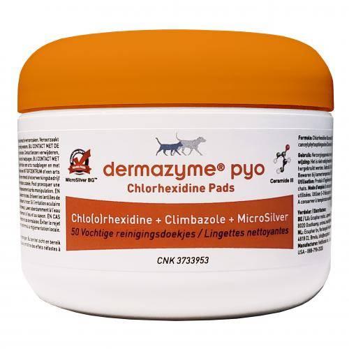 Dermazyme Pyo Chlorhexidine Pads 50 pièces