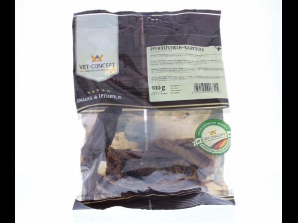 Vet-concept Lamelles à mâcher viande Cheval Snack Chien 100 grammes