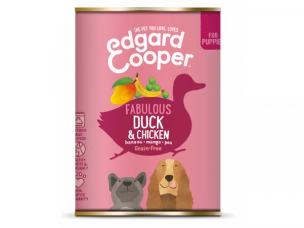 Edgard & Cooper Chiot boîtes Canard et Poulet 6 x 400 grammes