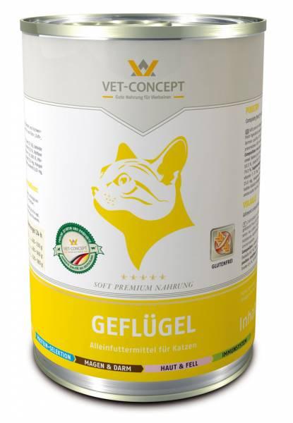 Vet-concept Menu Chat Volaille 6 x 400 grammes